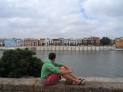 The boyfriend and the beautiful buildings in Triana